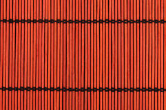 Background from red bamboo table cloth Royalty Free Stock Photography