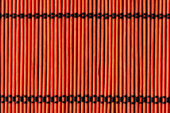 Background from red bamboo table cloth Royalty Free Stock Image