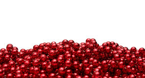 Background with red beads Royalty Free Stock Photos