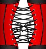 Background red black corset Stock Photos