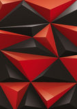 Background from red and black pyramid, top view. You can change the color keeping 3d form. Vector illustration Stock Photos