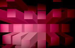 Background-red blocks. Background with red coloured blocks stock illustration