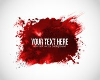 Background with red blood splashes on white background.  Royalty Free Stock Photo