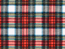 Background of Red and Blue Plaid Fabric Royalty Free Stock Photos