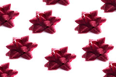 Background of Red Bows. On a White Royalty Free Stock Photo