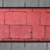 Background red, brick, block wall abstract stone t Stock Image