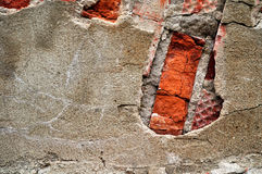 Background of red brick and gray stones wall Stock Photos