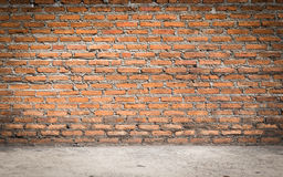 Background of red brick. Old red brick wall texture Royalty Free Stock Photo