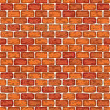 Background red brick wall pattern seamless illustration Stock Images