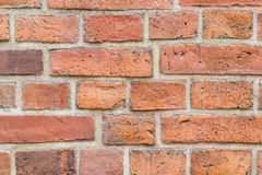 Background of red brick wall pattern texture. Royalty Free Stock Photo