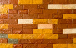 Background of red brick wall Stock Images
