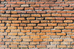 Background of red brick wall pattern texture. Stock Image