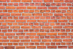 Background of red brick wall pattern texture. Stock Images