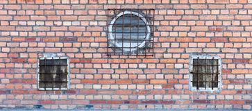 Background of red brick wall pattern texture. Royalty Free Stock Images