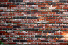 Background of red brick wall pattern texture backdrop wallpaper Stock Photos