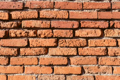Background of red brick wall pattern texture. Stock Photography