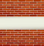 Background with red brick wall Royalty Free Stock Photos
