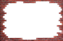 Background of red brick wall Royalty Free Stock Photography