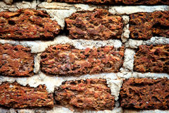Background of red brick wall texture Stock Photo