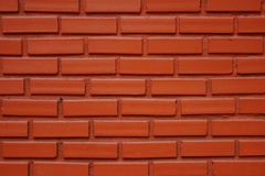 Background of red brick wall texture. stock photo