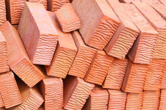 Background of red bricks Stock Photography