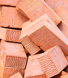 Background of red bricks Royalty Free Stock Photo