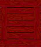 Background of red brown  boards with wood grain Stock Photography