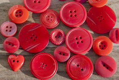 Background red buttons in macro Royalty Free Stock Photos