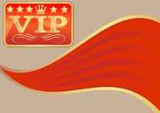 Background red c wave red fabrics vip Royalty Free Stock Images