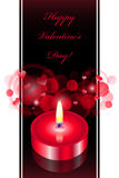 Background with red candle Stock Photo