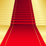 Background with red Carpet Stock Image