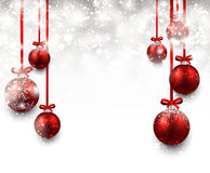 Background with red christmas balls. Stock Image