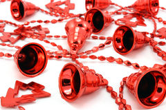 Background of red Christmas garland Stock Image