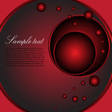Background with red circles. Abstract colorful illustration with red circles, suitable for various covers or company presentations Royalty Free Illustration