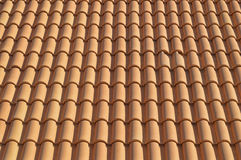 Background Of Red Clay Tiles Royalty Free Stock Photos