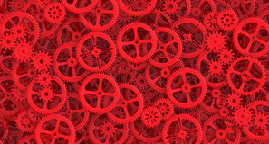 Background from red cogwheels Stock Image