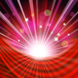 Background with red curtain Royalty Free Stock Images