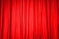 The background of red curtain Royalty Free Stock Photography