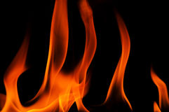Background with red flames of fire Royalty Free Stock Image