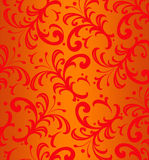 Background of  Red Floral Spiky Swirls Stock Image