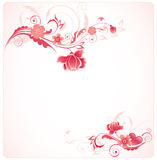 Background with red flowers Stock Image