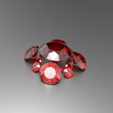 Background with red gemstones. 3D illustration stock images
