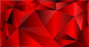Abstract geometric red triangle background vector illustration
