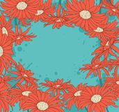 Background with red gerbera Stock Images