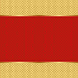 Background. Red and gold background -  illustration Stock Images