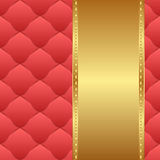 Background. Red and gold background - vector illustration Royalty Free Stock Photos