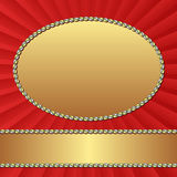 Background. Red background with golden frames Royalty Free Stock Image