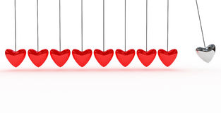 Background with red heart Stock Photos