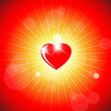 Background with red heart Royalty Free Stock Photos