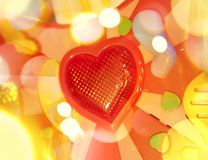 Background with red heart Royalty Free Stock Photo